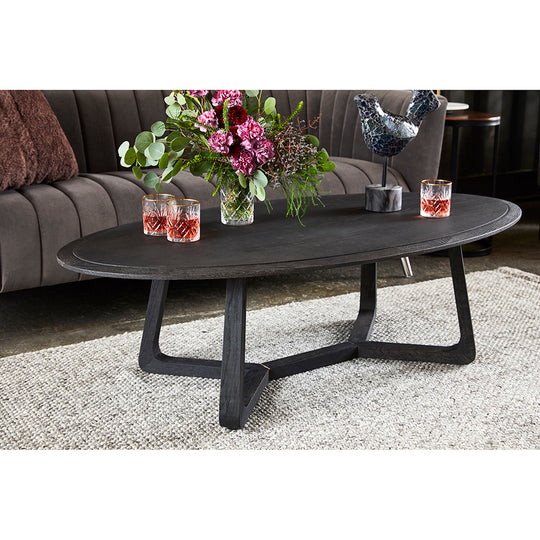 Contemporary Modern Nathan Round Coffee Table - Home Office Desk - Cocktail Table