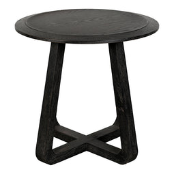 Nathan End Table, Black, Contemporary Modern