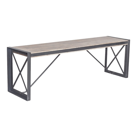 Industrial Bronx Large Dining Room With Bench - Corner Dining Bench