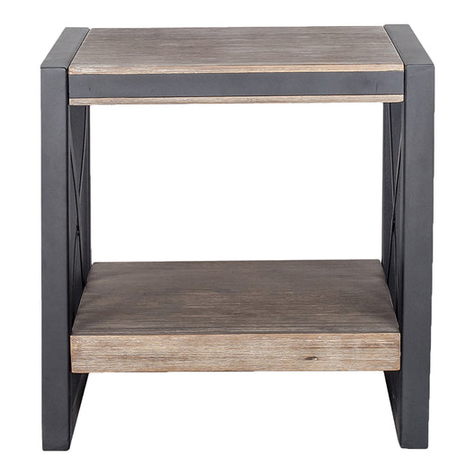 Bronx Side Table, Light Brown, Industrial