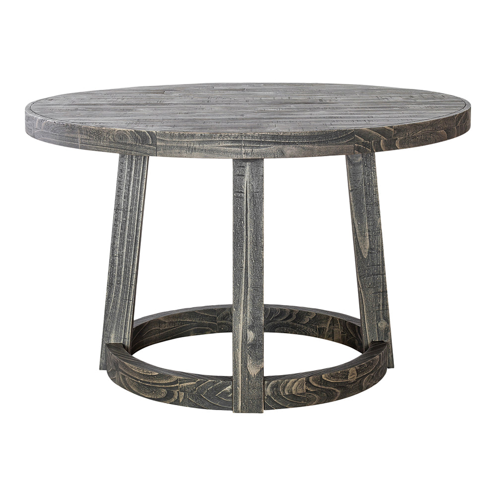 Rustic Dunedin Adjustable Dining Room Table - Home Bar Table -Dark Gray