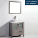 "Load image into Gallery viewer, 30"" Light Grey Solid Wood Sink Vanity With Mirror 