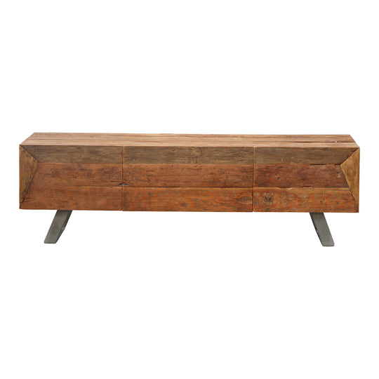 Rustic Corral Tv Stand Table - Entertainment Media Stand - Tv Console Table