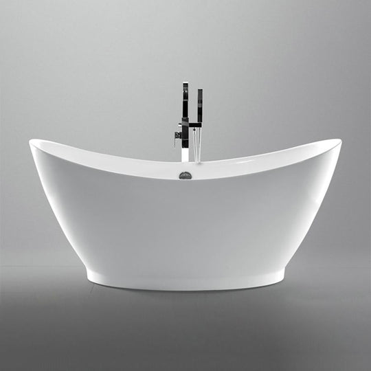 "67.3"" White Acrylic Tub 
