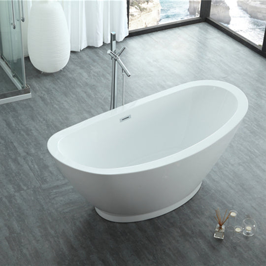 "69"" White Acrylic Tub 