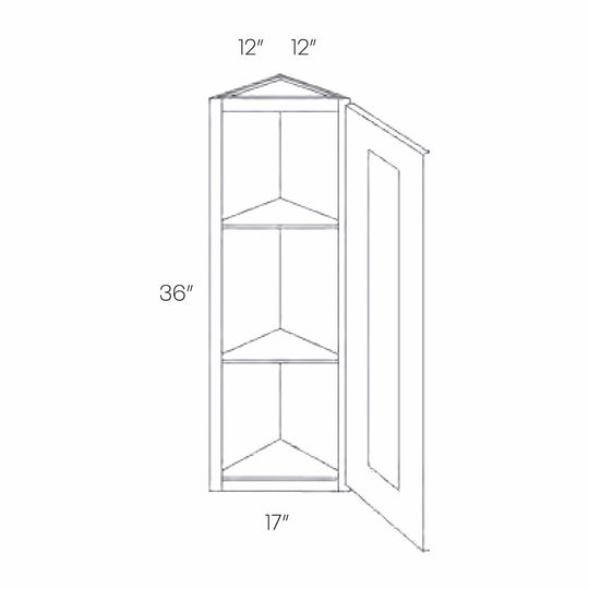12X 36 Inch Luxor White Ready To Assemble Wall End Cabinet