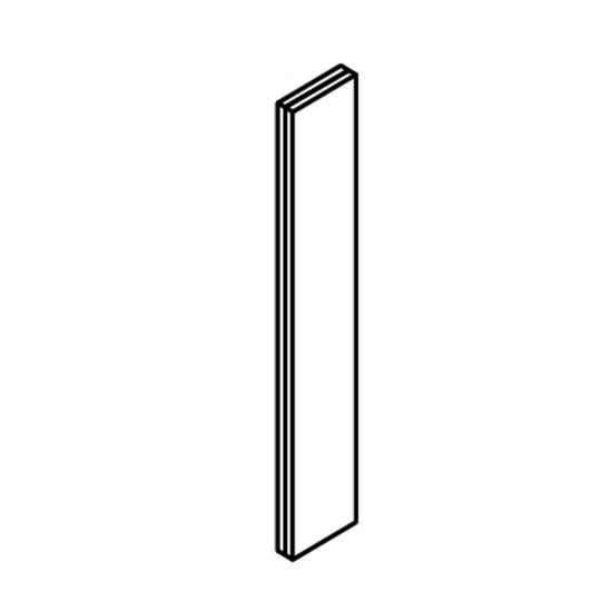 "Lacqure Grey, 3""W X 42"" H  Wall Filler - Frameless"