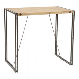 Industrial Brooklyn Bar Table - Home Kitchen Breakfast Bar Table - Pub Height Table - 43 Inch H