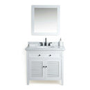"Load image into Gallery viewer, 36"" Cubic Under mount Oval Sink  Solid Wood  Vanity With Mirror And Faucet - Gray"