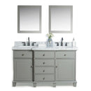 "Load image into Gallery viewer, 60"" Solid Wood Sink Vanity With Mirror And Faucet Including Two Doors & Four Drawers - White"
