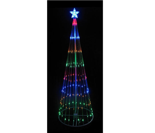 4' Multi-Color LED Light Show Cone Christmas Tree Lighted Yard Art Decoration