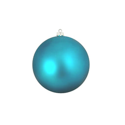Turquoise Blue Shatterproof Matte Christmas Ball Ornament 4