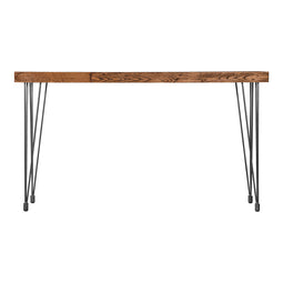 Natural Boneta Console Table In iron Frame - Industrial Hallway Entryway Table