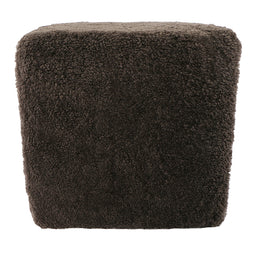 Contemporary Modern Shepherd Wool Stool - Salon Stool Chair - Spa Stool Chair