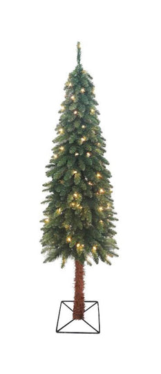 7' Pre-Lit Two-Tone Alpine Artificial Christmas Tree - Clear Lights
