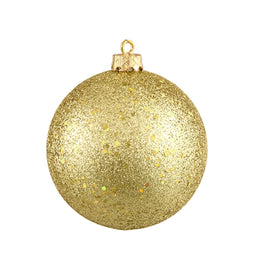Vegas Gold Shatterproof Holographic Glitter Christmas Ball Ornament 8