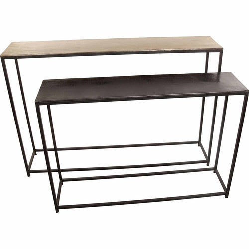 Contemporary Modern Anni Console Tables Set Of Two, Behind Sofa Table In Multi Color