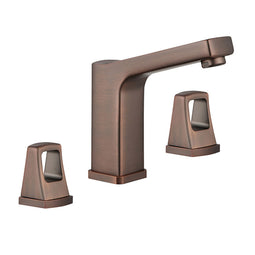 Widespread Double Handle Bathroom Faucet W/ Drain Assembly - Brown Bronze