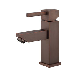 Single Hole Single Handle Bathroom Faucet W/ Drain Assembly Bathroom - Brown Bronze