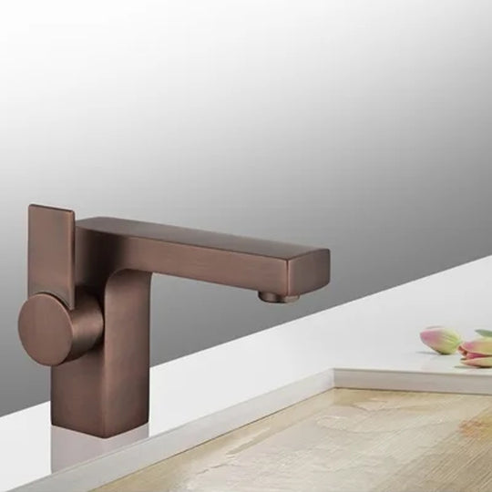 Single Hole Single Handle Bathroom Faucet With Drain Assembly Brass - Brown Bronze