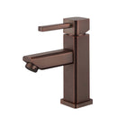 Load image into Gallery viewer, Single Hole Single Handle Bathroom Faucet With Drain Assembly Bathroom Faucets - Brown Bronze