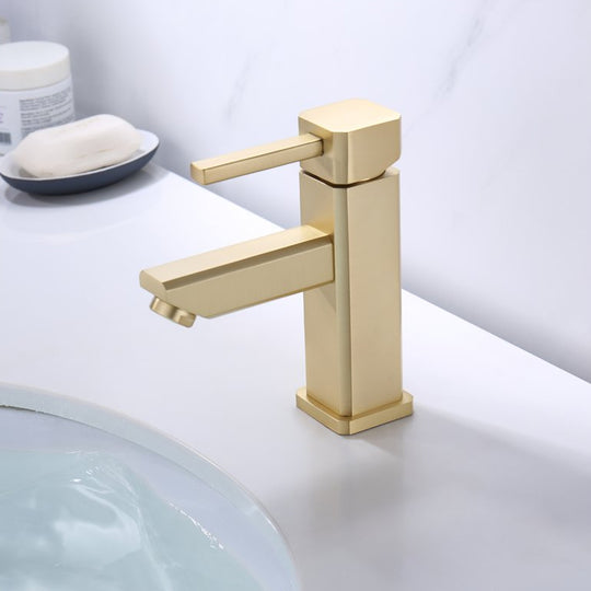 Single Hole Single Handle Bathroom Faucet With Drain Assembly Bathroom Faucets - Brown Bronze