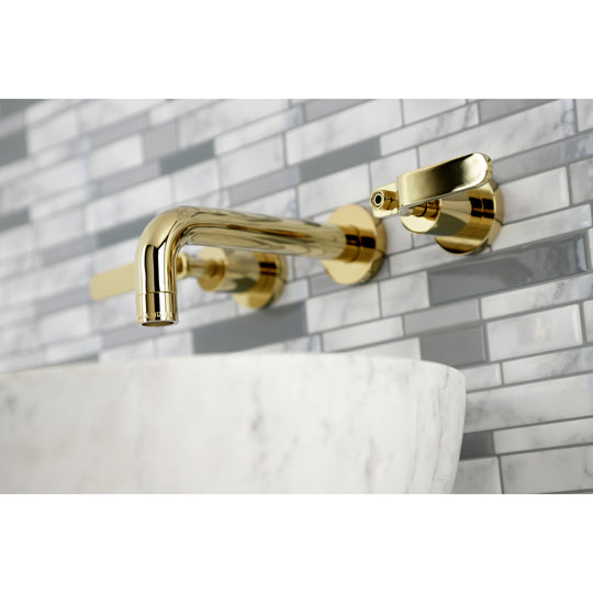 Whitaker Two Handle Wall Mount Bathroom Faucet