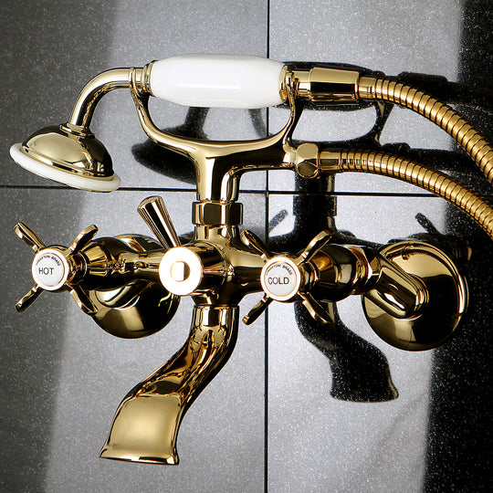 "Essex Clawfoot Tub Faucet With Hand Shower In 7.5 "" Spout Reach"