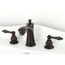 "Load image into Gallery viewer, Victorian 8 "" Widespread Bathroom Faucet In 5.3 "" Spout Height"