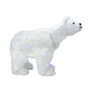 "Load image into Gallery viewer, 24"" Battery Operated LED Lighted Tinsel Polar Bear Christmas Decoration"