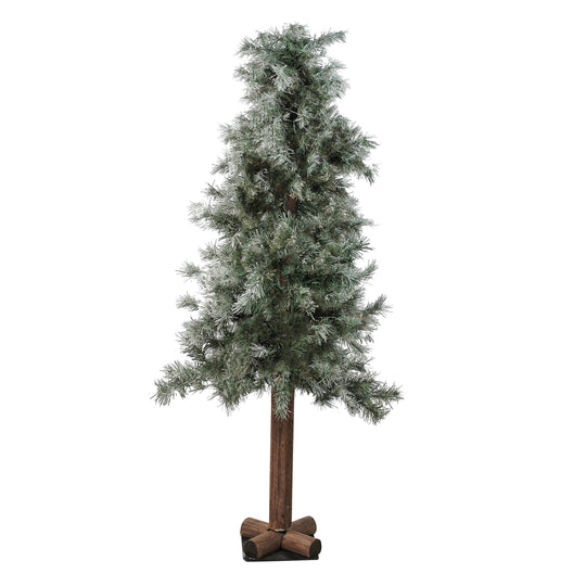 Frosted and Glittered Woodland Alpine Artificial Christmas Tree - Unlit Allstate