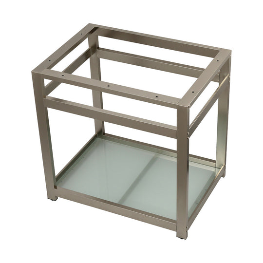 "Fauceture 31"" x 22"" Steel Console Sink Base with Glass Shelf"