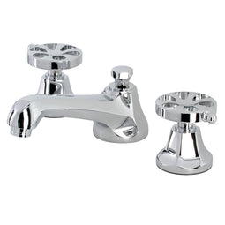Belknap Deck Mount Widespread Bathroom Faucet With Brass Pop Up