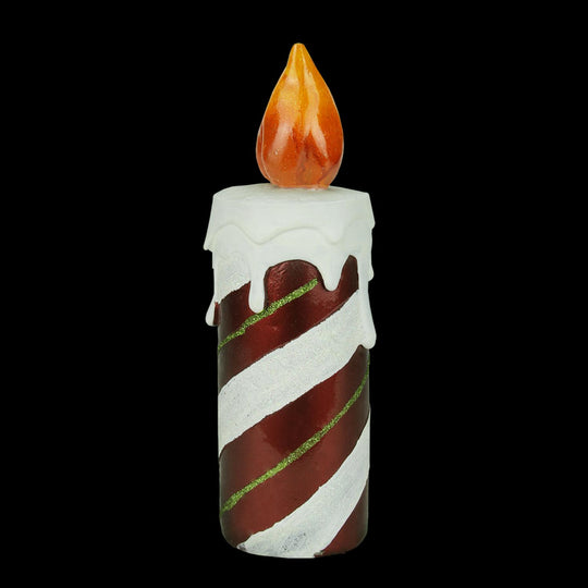 "9.75"" LED Lighted Festive Candy Cane Striped Candle Christmas Decoration"
