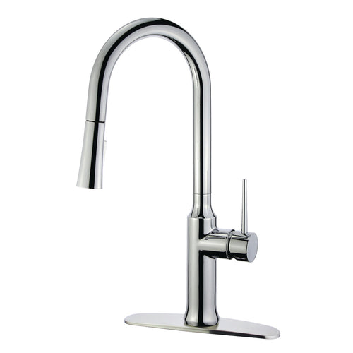 Gourmetier Single Handle Pull Down Kitchen Faucet