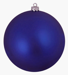 Royal Blue Shatterproof Matte Christmas Ball Ornament 8
