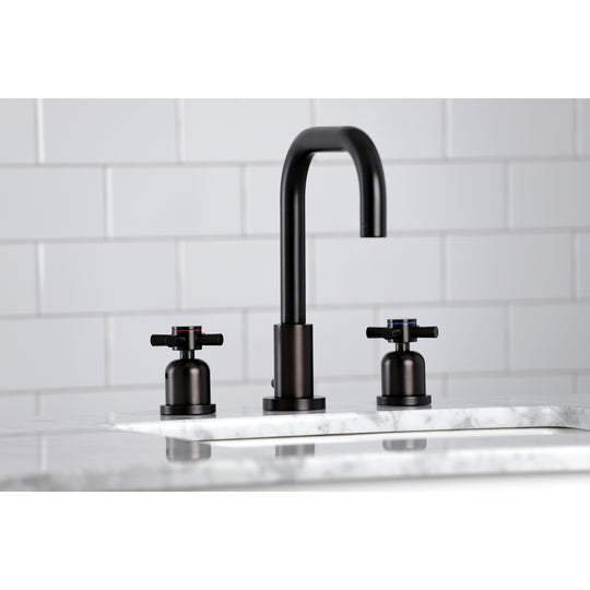 Concord Widespread Bathroom Faucet With Brass Pop Up