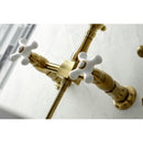 Load image into Gallery viewer, Heritage Wall Mount Bridge Kitchen Faucet W/ Brass Sprayer