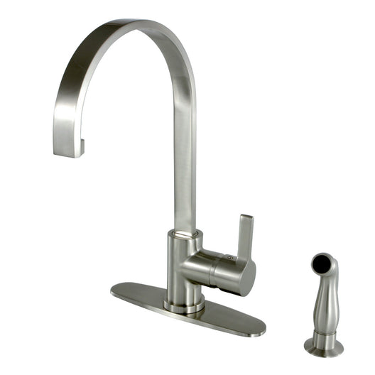 Gourmetier Continental Single Handle Kitchen Faucet With Side Sprayer