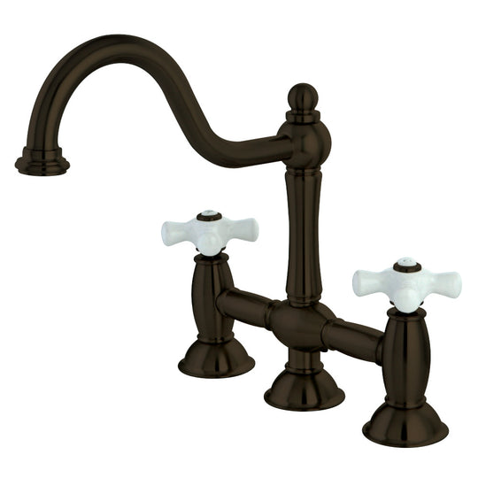 "8 "" Centerset Bridge Two Handle Kitchen Faucet"