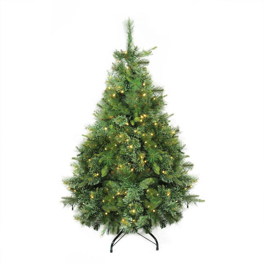 "4.5' x 37"" Pre-Lit Cashmere Mixed Pine Artificial Christmas Tree - Warm Clear LED Lights"