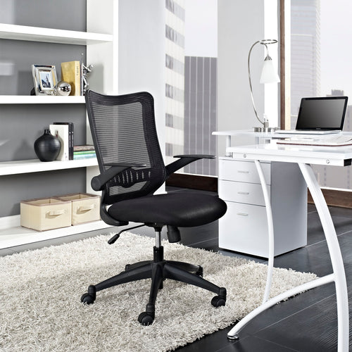 Explorer Mid Back Mesh Ergonomic Office Chair With Flip-Up Arms -26.5