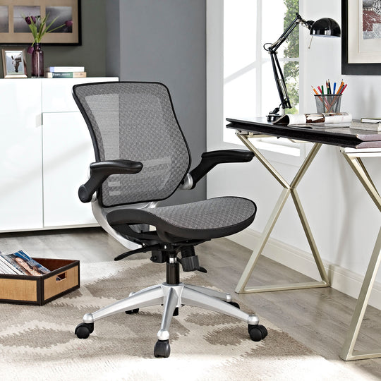 Edge All Mesh Office Chair W/ Flipup Arms, Ideal For Computer Table Chair