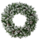 "Load image into Gallery viewer, 36"" Flocked Angel Pine with Pine Cones Artificial Christmas Wreath"