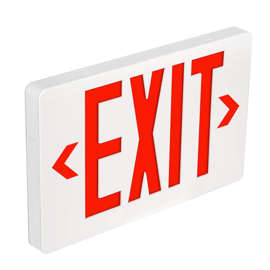 LED Emergency Light Exit Sign - 4W - Red Large Size - UL Listed