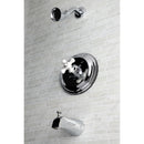 Load image into Gallery viewer, Vintage Pressure Balanced Valve Trim With Porcelain Cross Handle