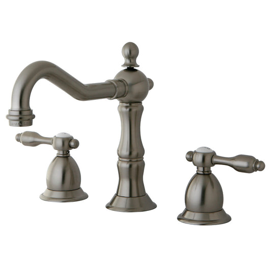 Tudor Widespread Lavatory Faucet With Brass Pop Up
