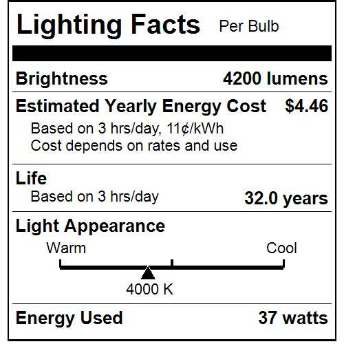 37W LED Linear Shop Light - 44.5-Inch - 4200Lm - 4000K - Plug-In - ETL Listed - IP65 - White Finish