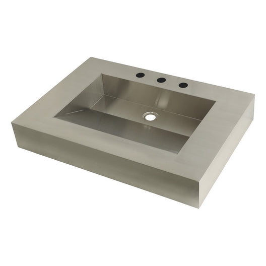 Fauceture Stainless Steel Bathroom Sink, Brushed
