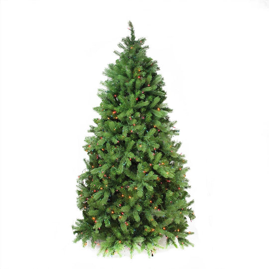 6.5' Pre-Lit Noble Fir Full Artificial Christmas Tree - Multi-Color Lights